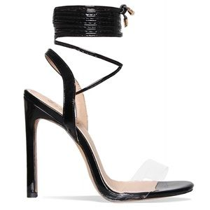 Simmi Shoes - Simmi black wrap around heels